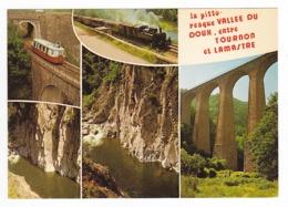 07 La Vallée Du Doux Entre Tournon Et Lamastre N°39226 Train Locomotive Vapeur Et Autorail Billard - Lamastre