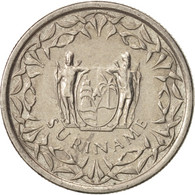 Monnaie, Surinam, 25 Cents, 2009, TTB+, Nickel Plated Steel, KM:14A - Surinam 1975 - ...