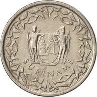 Monnaie, Surinam, 25 Cents, 2009, TTB+, Nickel Plated Steel, KM:14A - Suriname 1975 - ...