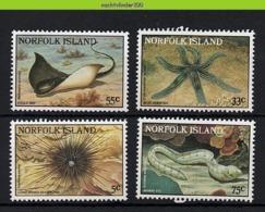Nff106 FAUNA 'VISSEN FISH FISCHE POISSONS' ROG STARFISH MURENE MORAY EAL RAY MARINE LIFE NORFOLK ISLAND 1986 PF/MNH - Meereswelt