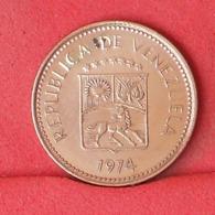 VENEZUELA 5 CENTIMOS 1974 -    KM# 49 - (Nº31454) - Venezuela