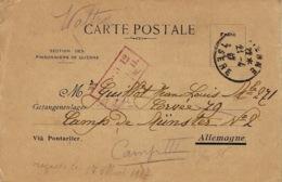 """1917- C P  """" Section Des Prisonniers De Guerre """" De Vienne ( Isère ) Pour Le Camp De Münster - Marcophilie (Lettres)"""