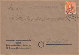 5 AM-Post 8 Pf. EF Orts-Brief Handwerker-Innungskrankenkasse OSNABRÜCK 3.1.46 - Zone Anglo-Américaine