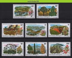 Nff108 FAUNA FLORA MILIEU BOMEN BLOEMEN HERTEN PROTECTION OF NATURE DEER FLOWERS TREES MOUNTAINS RWANDA 1975 PF/MNH - Umweltschutz Und Klima