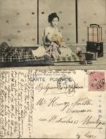 Japan, Beautiful Geisha Woman Nursing, Breastfeeding (1911) Postcard - Japan
