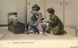 Japan, Beautiful Geisha Women Nursing, Breastfeeding (1910s) Postcard - Japan