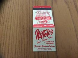 """Pochette D'allumettes * CANADA """" Mittolo's - GARDEN MOTEL - COCKTAIL LOUNGE - Cavendish, Montreal"""" - Boites D'allumettes"""