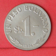 BOLIVIA 1 PESO 1974 -    KM# 192 - (Nº31467) - Bolivië