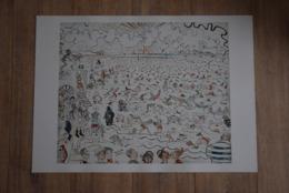 Poster James Ensor, Les Bains à Ostende - De Baden In Oostende. The Baths At Ostend. 50X70cm - Populaire Kunst
