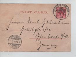 PR7337/ TP Germania S/CP Zanzibar C.Deutsche Seepost Ost-Afrikanische Hauptlinie 1899 > Offenbach Arrival Cancellation - Alemania