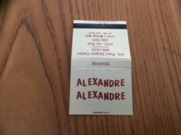 "Pochette D'allumettes CANADA ""ALEXANDRE ALEXANDRE MONTREAL"" - Boites D'allumettes"