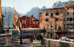 !  Alte Ansichtskarte Lago Di Garda, Torbole, Hafen, Harbour - Italia