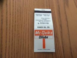 "Pochette D'allumettes États-Unis ""Mc Quik's Oilube - Elkhart, Indiana"" - Boites D'allumettes"