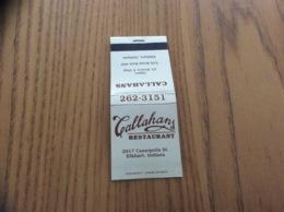 """Pochette D'allumettes États-Unis """"Callahans RESTAURANT - Elkhart, Indiana"""" - Boites D'allumettes"""