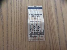 "Pochette D'allumettes * États-Unis ""Sands Motor Inn - North Platte, Nebraska"" - Boites D'allumettes"