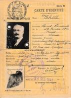 1941 VICHY - PARIS - CARTE D'IDENTITÉ De FRANÇAIS - - Documentos Históricos