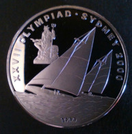 "LAOS 5000 KIP 1999 SILVER PROOF ""XXVII Olympiad Sydney 2000"" ""free Shipping Via Registered Air Mail"" - Laos"