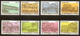 Rwanda Ruanda 1980 OBCn° 1012-1019 *** MNH  Cote 5,50 € 150 Ans Indépendance Belgique Onafhankelijkheid Belgie - Rwanda
