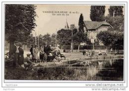 VIGNEUX-SUR-SEINE - Un Coin Du Lac (superbe Animation, Pêcheurs) - Vigneux Sur Seine