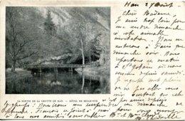 Belgique - Han Sur Lesse - La Sortie De La Grotte - Hotel Bellevue - Ecrite, Timbrée - 6515 - Belgique