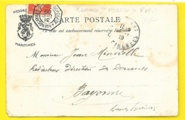 Cachet BUENOS AIRES BORDEAUX 1909 Sur L'AMAZONE - Marcophilie (Lettres)