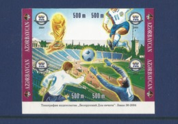 Azerbaijan 2004 FIFA 100 Years INPERF.4 STAMPS - Azerbaiján