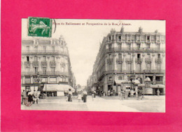 49 Maine Et Loire, Angers, Place Du Ralliement Et Perspective De La Rue D'Alsace, Animée, Commerces, 1912 - Angers