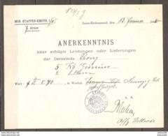 MILITARIA DOCUMENT DOKUMENT SAINS RICHAUMONT 13/1/1916 AISNE FRANCE ANERKENNTNIS PROISY - KOMMANDANTUR 1/II 7 ARMEE - 1914-18