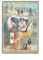 Chromo ITALIE ITALIA  Pub: LU Lefèvre-Utile Bien 110 X 80 Mm 2 Scans - Lu