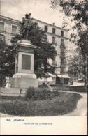 ! Alte Ansichtskarte Madrid, Denkmal, Estatua De Cervantes - Madrid