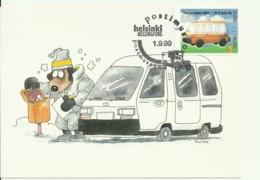 Carte Maximum - Finland - Doghill Postman In Winter An Electric Car - Maximum Cards & Covers