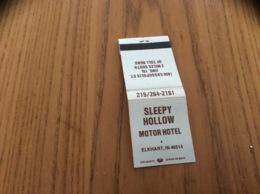 Pochette D'allumettes Etats-Unis «SLEEPY HOLLOW MOTOR HOTEL - ELKHART, INDIANA» - Matchboxes