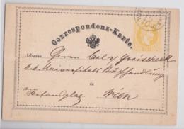 WIESELBURG CORRESPONDENZ-KARTE 15.10.1871 ENTIER POSTAL EMPIRE AUSTROHONGROIS CARTE POSTALE PIONNIERE EARLY STATIONERY - 1850-1918 Empire