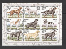 A413 NEVIS FAUNA PETS DOGS HUNTINGS BIRDS 1KB MNH - Honden