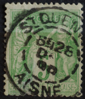 Sage N°106 Type Il O.(CAD) St QUENTIN 28 Déc 1898. - 1876-1898 Sage (Type II)