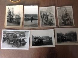 Camp De Beverloo ? 7 Petites Photos D'époque Militaire Militaria Soldats - Militaria