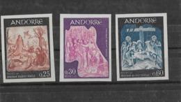 Andorre N° 184 à 186** Non Dentelé TB - Andorra Francesa
