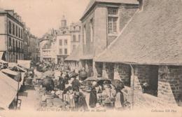56 Auray Vieille Halle Jour De Marché Timbre + Cachet AEF Premier Jour 1952 Pointe Noire Centenaire Savorgnan Brazza - Auray