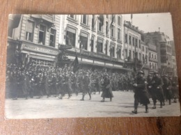 Anvers Défilé Militaire Photo Carte Originale - Militaria