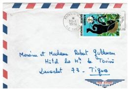 POLYNESIE FRANCAISE - 15 Ans De Lions à TAHITI 1976 Sur Lettre - Raubkatzen