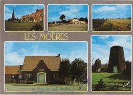 59 - Les Moëres - La Place - L'Aéeroclub - Vue Générale - Mairie - Moulin - France