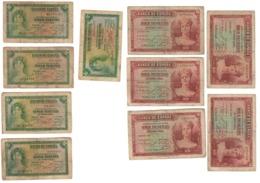 Spain Lot 10 Banknotes 5 & 10 Pesetas 1935 - [ 2] 1931-1936 : República