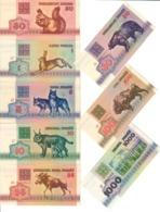 Belarus Lot Set 8 X 1992 Banknotes UNC .CV. - Belarus