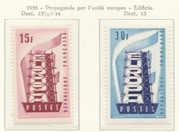 PIA - CEPT - 1956 - FRANCE - (Yv 1076-77) - Europa-CEPT