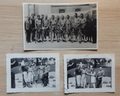 Cyclisme - Equipe ALLEGRO Suisse - Tour De Suisse En 1939 - Ph: J. Schoepflin, Neuchatel - 1 Photo Carte Et 2 Photos - Ciclismo