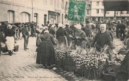 29 Morlaix Place Des Jacobins Le Marché Cachet 1913 Marchande Legumes - Morlaix
