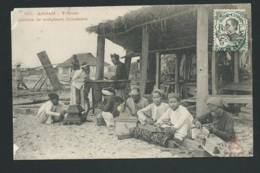 VIETNAM  947 Annam - TOURANE Ateliers De Sculpteurs Annamites MANQUE DANS UN ANGLE  Vaa60 - Vietnam
