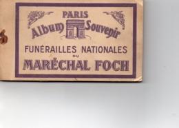 Paris - Carnet De 20 CP - Funérailles Nationales Du Maréchal Foch - Francia