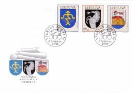 Litauen, 2004, 838/40, Stadtwappen(XIII). FDC - Lituania