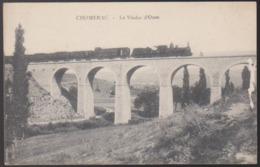 CPA - (07) Chomérac - Le Viaduc D'Ozen (obl. 1918 F.M. Détachement Chomérac) - Otros Municipios